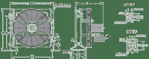 cooler dimensions A120 oil cooler 400V to a330 oil cooler 400v
