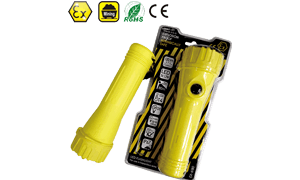 IMPA 792237 Explosion Proof Intrinsically Safe 2D Primary Cells Powered LED Flashlight
