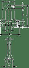 CROSBY G2150 BOLT TYPE ANCHOR SHACKLES DIMENSION