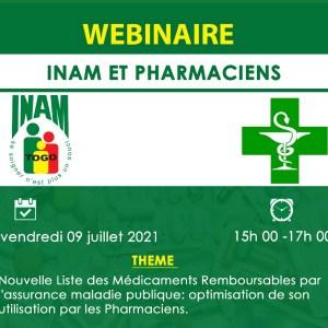 Article rencontre webinaire INAM Pharmaciens 09 07 2021