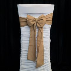 Burlap Chair Sashes Garden Swing Egg Hessian Sash Achieve That Classic Rustic