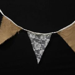 Wedding Chair Cover Hire Adelaide Office Jaipur Hessian Bunting Flags - Perfect Rustic Style Decoration!