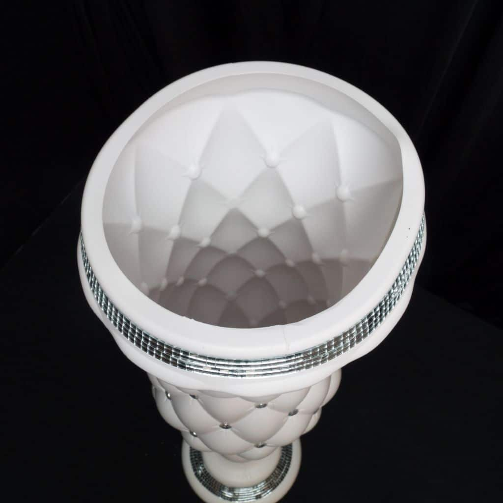 chair covers for hire adelaide scandinavian and ottoman 90cm plastic quilted planter - eye catching lightweight urn with mirror accents