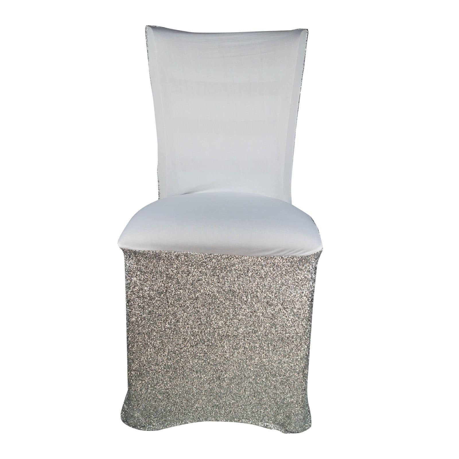 Sparkle Spandex Chair Covers  Silver or Gold