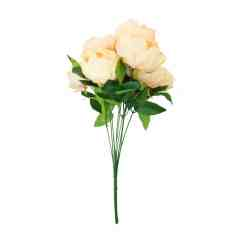 Chair Covers Hire Wholesale Resistance Accessories Artificial Peony Flowers - 10 Head Available In White, Pink And Peach