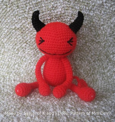 http://www.ravelry.com/patterns/library/red-devil---free-amigurumi-crochet-pattern