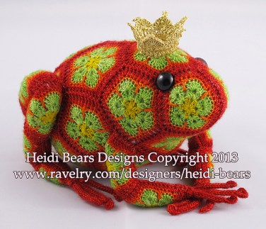 http://www.ravelry.com/patterns/library/tomato-the-frog-prince-african-flower-crochet-pattern