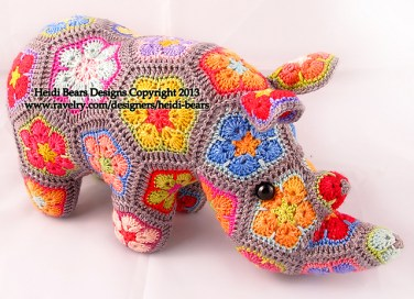 http://www.ravelry.com/patterns/library/thandi-the-african-flower-rhino-crochet-pattern
