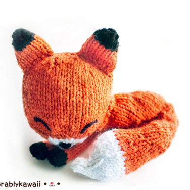 http://www.ravelry.com/patterns/library/knit-sleepy-fox-amigurumi