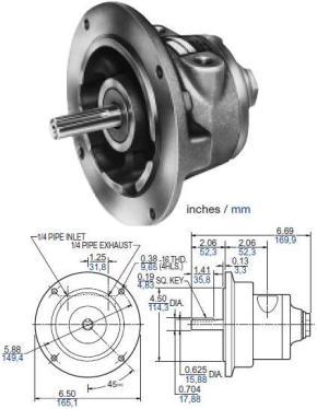 Gast Air Motor 4AM Dimension