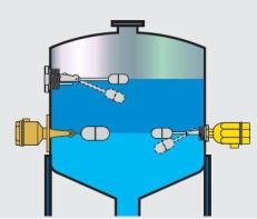 pemasangan horizontal float level switch