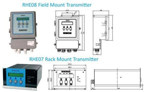 Rheonik RHE 07/08 Coriolis Mass Flow Transmitter Dimension