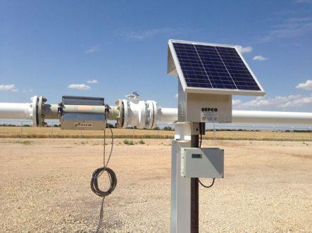 flexim solar power ultrsonic flow meter