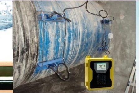 Flow meter clamp on ultrasonic 2 Path