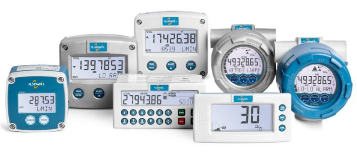 Flow Computer, Batch Control, Flow and Level Indicator Fluidwell