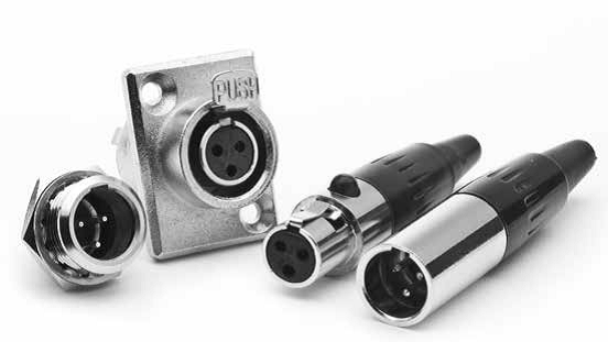 XLR Connector G-Type Miniature XLR Connectors-Amphenol