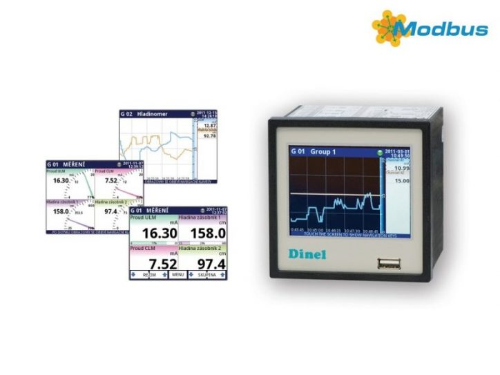 Multifunction graphical unit MGU–800, Dinel-Level and Flow Measurement