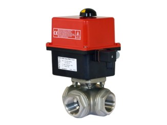 Electrically Actuated 3-Way Ball Valve VE3V - Stainless Steel