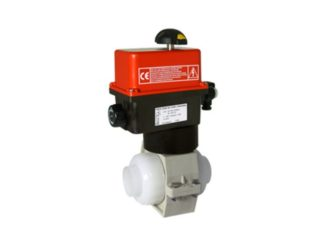Electrically Actuated 2-Way PVDF Ball Valves VE2V S4-PVDF
