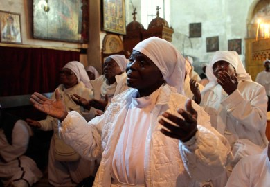 Christian Orthodox Christmas Eve In The West Bank Town Of Bethlehem