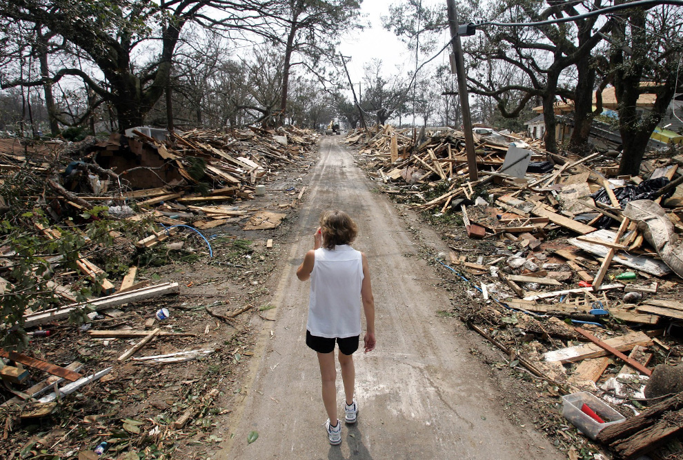 The destruction of Hurricane Katrina