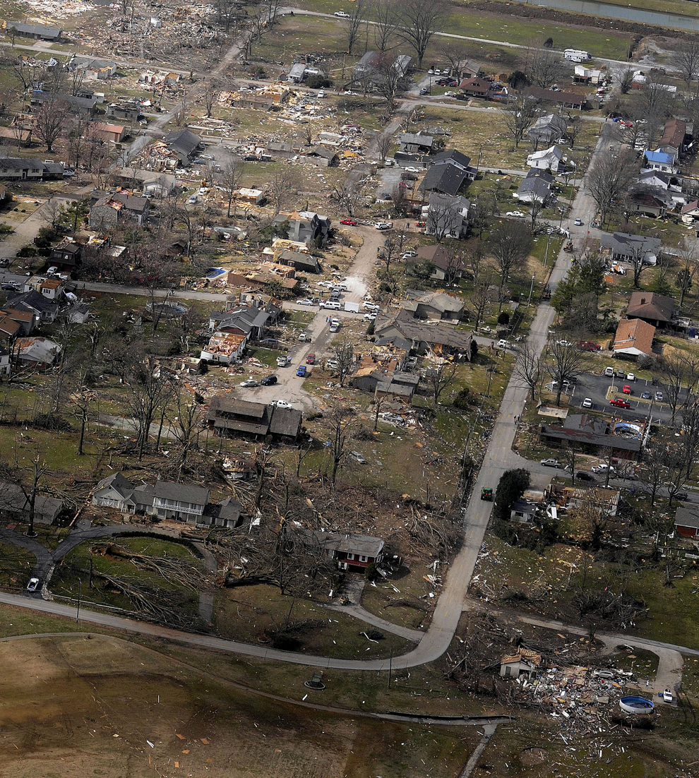Damage Storm House Yard