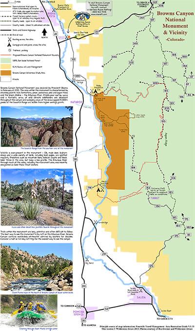 Browns Canyon Map : browns, canyon, Browns, Canyon, National, Monument, Arkansas, River,, Colorado