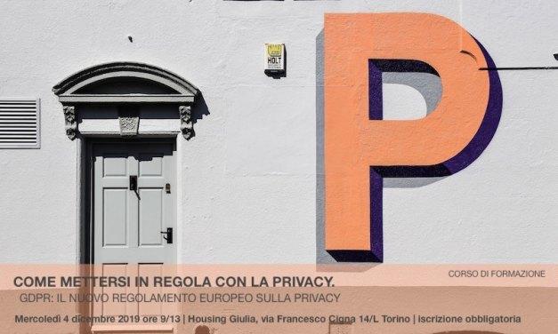 COME METTERSI IN REGOLA CON LA PRIVACY.