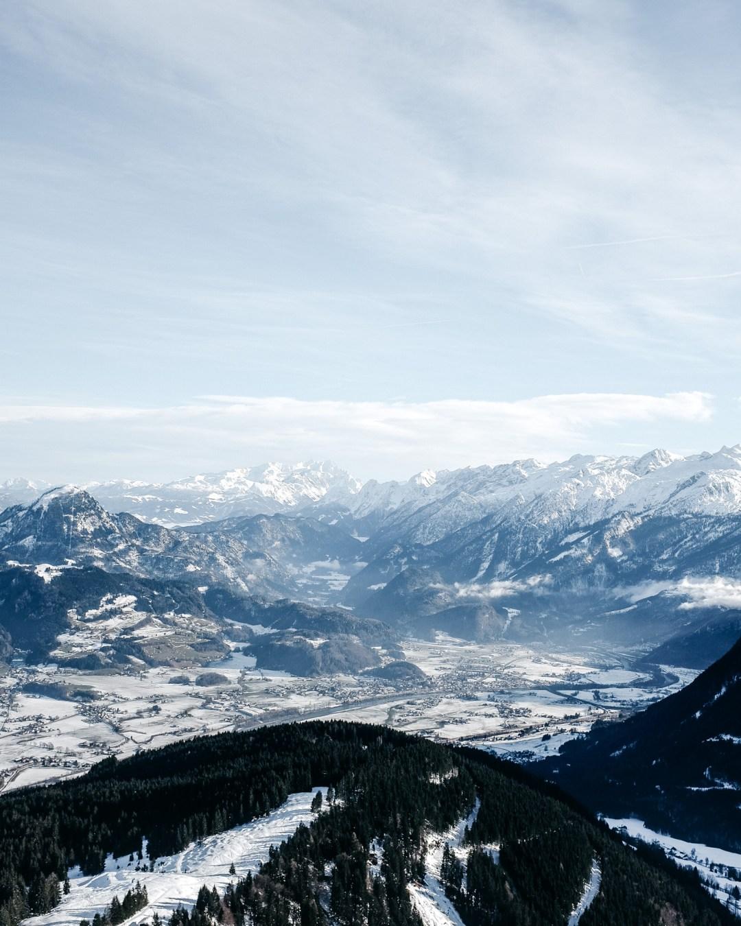 Winter Winterlandschaft Alpen Ausblick Ü50Mode fashionover50 inastil christmastime Weihnachtszeit BergpanoramaDSCF0960