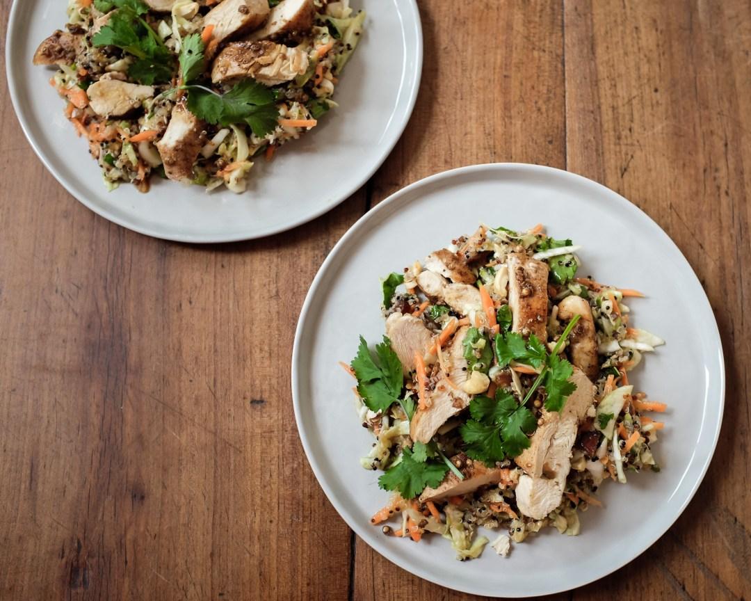 inastil, Ü50Blogger, Rezept, orientalischer Quinoasalat mit Hühnchen, lowcarb, leichte Rezepte, Mittagessen,_-4