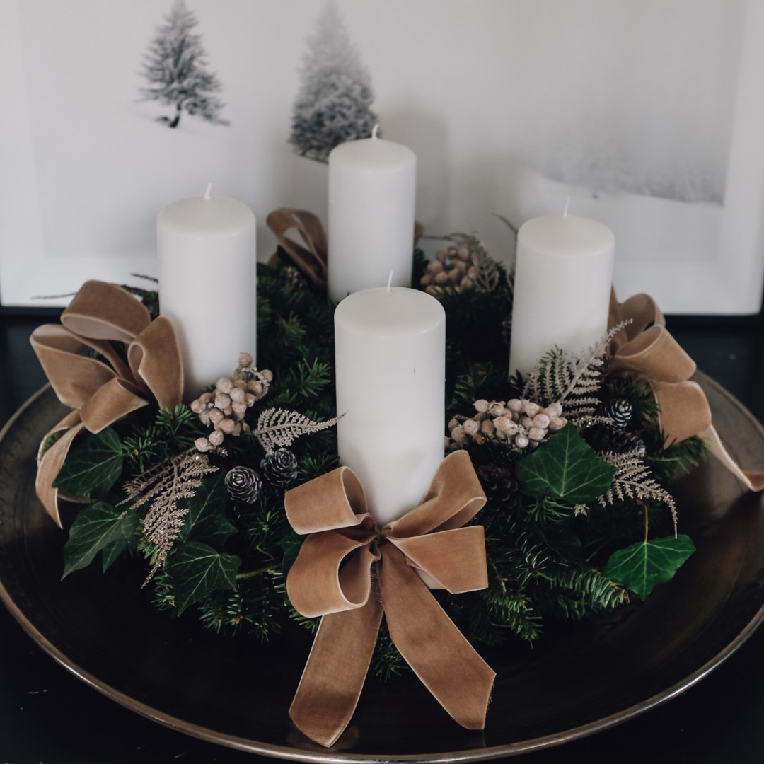 Inastil, Weihnachtsdeko, Adventsekoration, Adventskranz, Türkranz, wreath, homedecor, christmaswreath, christmasdecoration, Advent, solebich, DIY-5