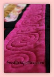 Swirl Stitch on Sandy Quilt # 4