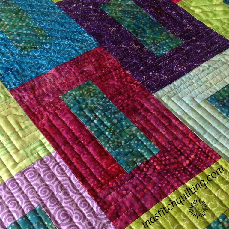 Geometric Lines on Miss A's Quilt