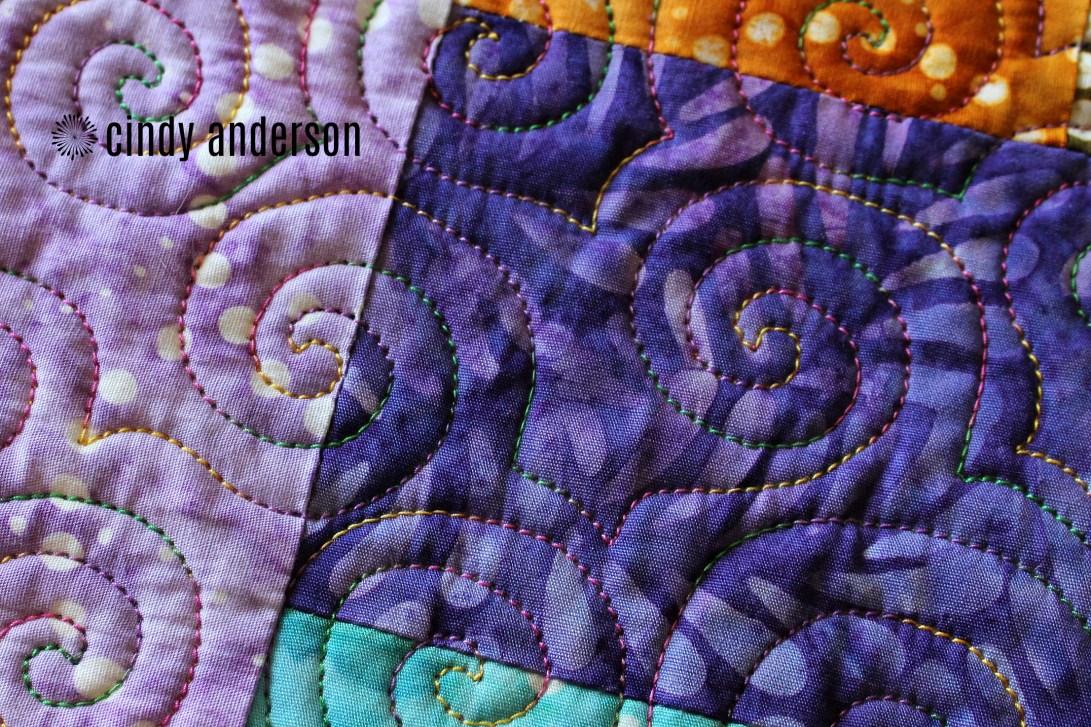Closeup of Quilting on Quinn H Quilt