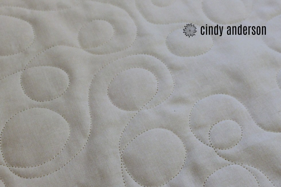 The Back of Cindy T's Scrappy Star Quilt