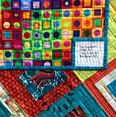 Window Box Quilt Backing & Label