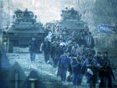 Ethnic cleansing of Croatians of Vukovar 1991 Photo: daily.tportal.hr