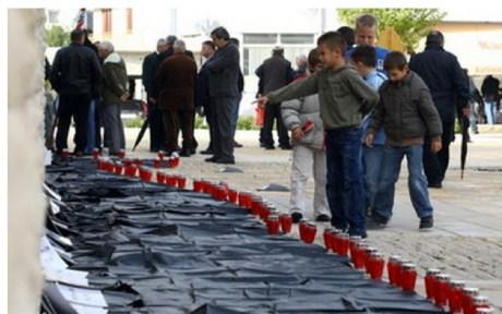 Croatia Skabrnje massacre victims - late 1991