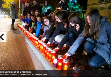 Osijek, Croatia, remembers Vukovar - November 2013 Photo: Davor Javorovic/Pixsell