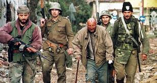 Vukovar, Croatia 1991 Serb Chetnik forces and Serb-led Yugoslav Army drive Croats to concentration camps