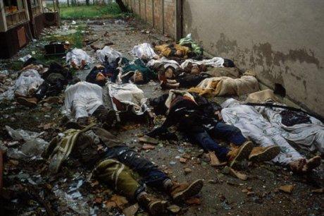 Vukovar, Croatia 1991 Alleyway of massacres of Croats