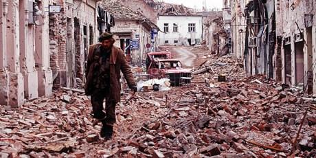 Vukovar, Croatia 1991 Devastation from Serb aggression