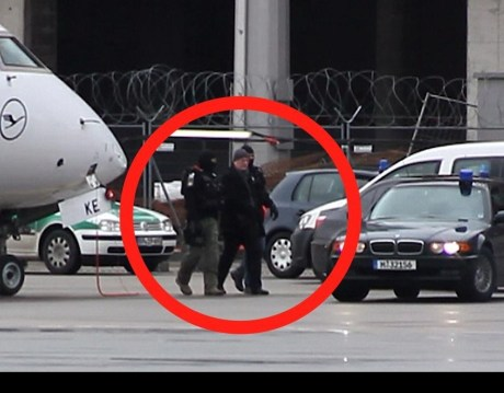 Josip Perkovic handed over to German police at  Zagreb airport, Croatia 24 January 2013