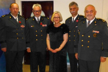 ANZAC Day, Korcula, Croatia, 25 April 2014 The Hon Susan Cox with  Croatian Homeland War Veterans