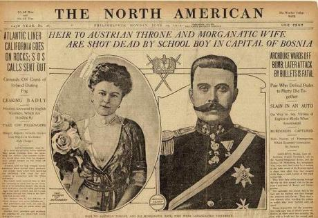 Assassination of Archduke Franz Ferdinand and his wife 1914