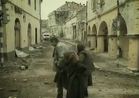 Croats fled their destroyed towns  under threats of death  and concentration camps  before August 1995