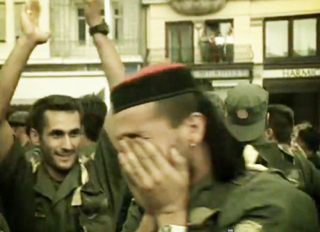 Tears of joy - Croat soldiers after Operation Storm 5 August 1995