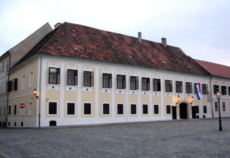 Ban's Palace/Banski dvori Zagreb Croatia today