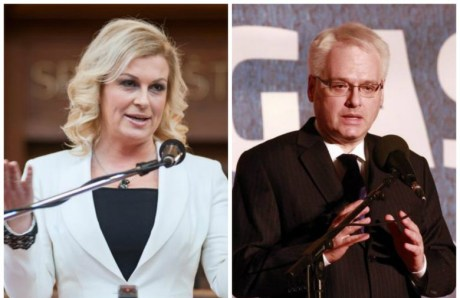 Croatian Presidential Candidates Kolinda Grabar-Kitarovic and Ivo Josipovic