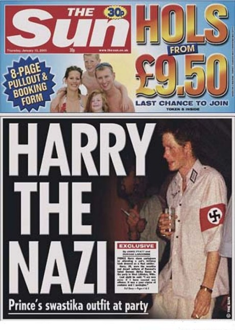 Prince Harry with Swastika 2005